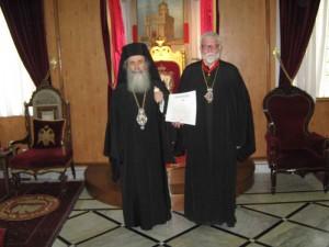 Ærkebiskop Gabriel udnævnes som ridder af Den Hellige Grav
