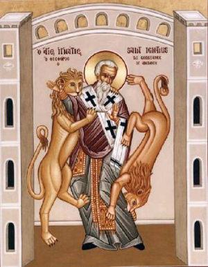 Ikon af hellige Ignatios af Antiokia