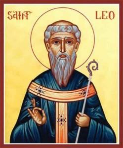 Ikon af hellige Leo, biskop af Catania
