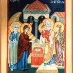 Ikon af Kristi Frembærelse i Templet