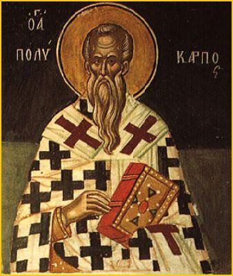 Ikon af hellige Polykarp, biskop af Smyrna