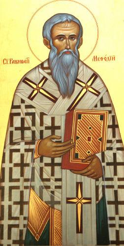 Ikon af Hellige Methodios, apostlenes ligemand, ærkebiskop af Moravia, slavernes oplyser