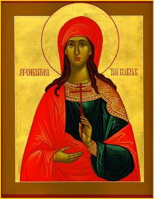 Hellige martyr Christina af Tyrus