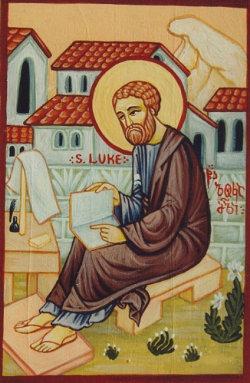 Ikon af hellige apostel og evangelist Lukas