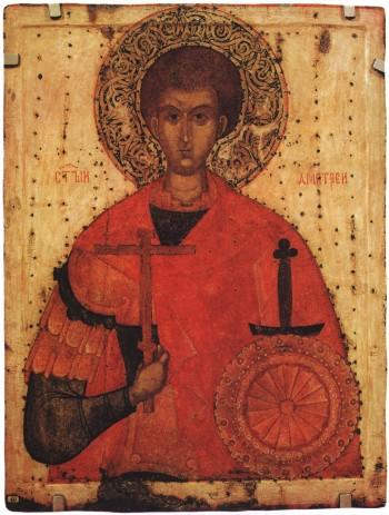 Ikon af hellige Demetrios af Thessaloniki
