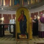 """Metropolit Kallistos læser bønnen """"Værdiges Herre at bevare os denne aften og nat ..."""""""