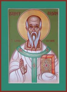Hellige biskop Aidan af Lindisfarne
