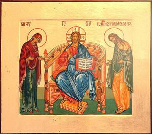 Ikon af Gudsmoder, Kristus og hellgie Johannes Døberen