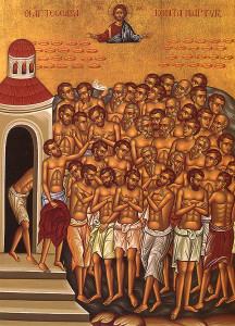 Ikon af de fyrretyve hellige martyrer i Sebaste