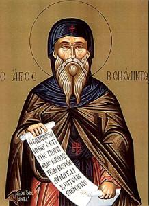 Ikon af hellige Benedict af Nursia
