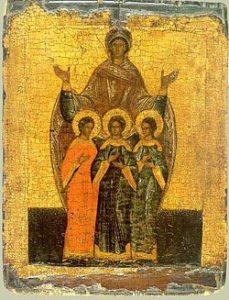 Ikon af hellige Sophia, Pistis, Elpis og Agape