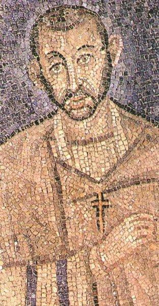 Mosaik af Hellige Ambrosios fra Milano