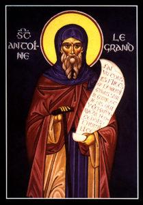 Ikon af hellige Antonios den Store