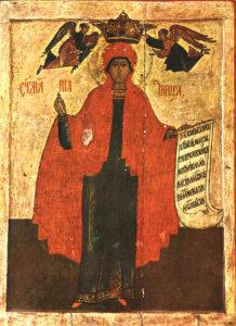 Ikon af hellige jomfrumartyr Parasceve af Rom