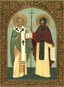 Ikon af hellige Kyrillos og Methodios