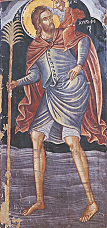 Ikon af hellige Kristoffer