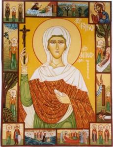 Den hellige Nino. Ikon af Nana Quparadze.